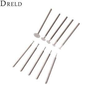 Image 2 - DRELD 10Pcs Dremel Accesories 2.35mm Shank Diamond Mounted Point Grinding Head Stone Jade Carving Polishing Engraving Tools