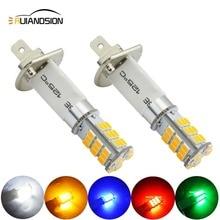 Ruiandsion 2pcs H1 Car Auto Fog Lights Bulb Driving Light 2835 33SMD 3000K Yellow Leds Trucks 12V 24V Red White Blue Green