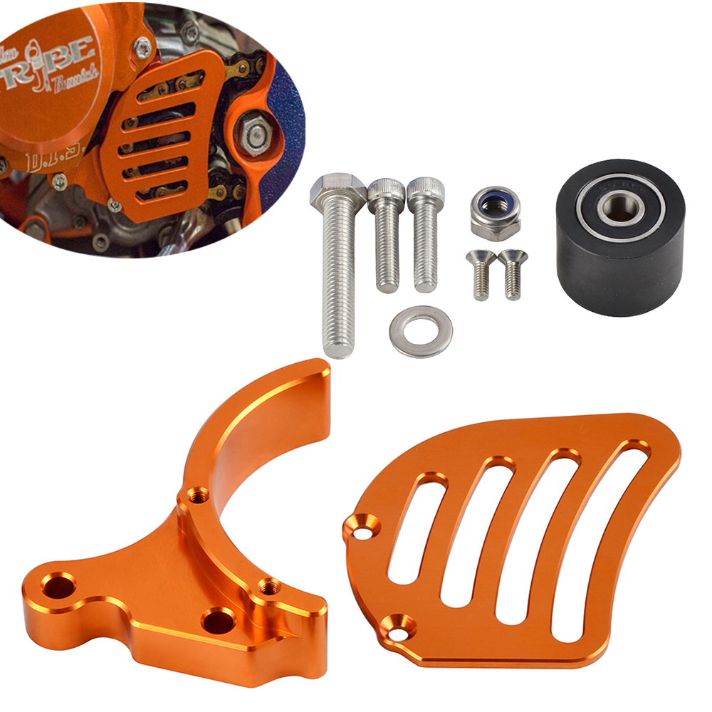CNC Front Sprocket Cover Chain Guard Cover Protector For KTM 65 SX SX65 2009 2017 Husqvarna