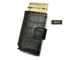 Противоугонная мужчины кошелек Crocodile натуральная кожа Mini rfid кошельки с автоматическим держателя карты Pop Up Кредитная карта Case