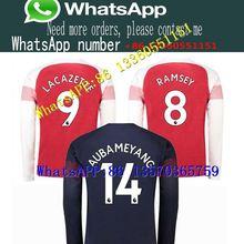 1454da572b0 2018 19 Arsenal RAMSEY OZIL XHAKA Long sleeve Soccer T-shirt TORREIRA  LACAZETTE MKHIARYAN AUBAMEYANG