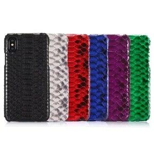 Image 5 - Роскошные Чехлы Solque из натуральной кожи, змея питона, 3D чехлы для iPhone X XS Max 10, Ультратонкий Твердый чехол из натуральной кожи