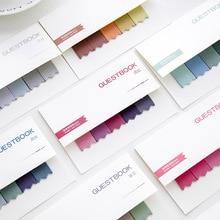 Примітка про градієнт повідомлення N разів вставити серію гостьових книг липкі нотатки нотатка на папері N раз наклейки 100 сторінок 8 кольорів для вибору