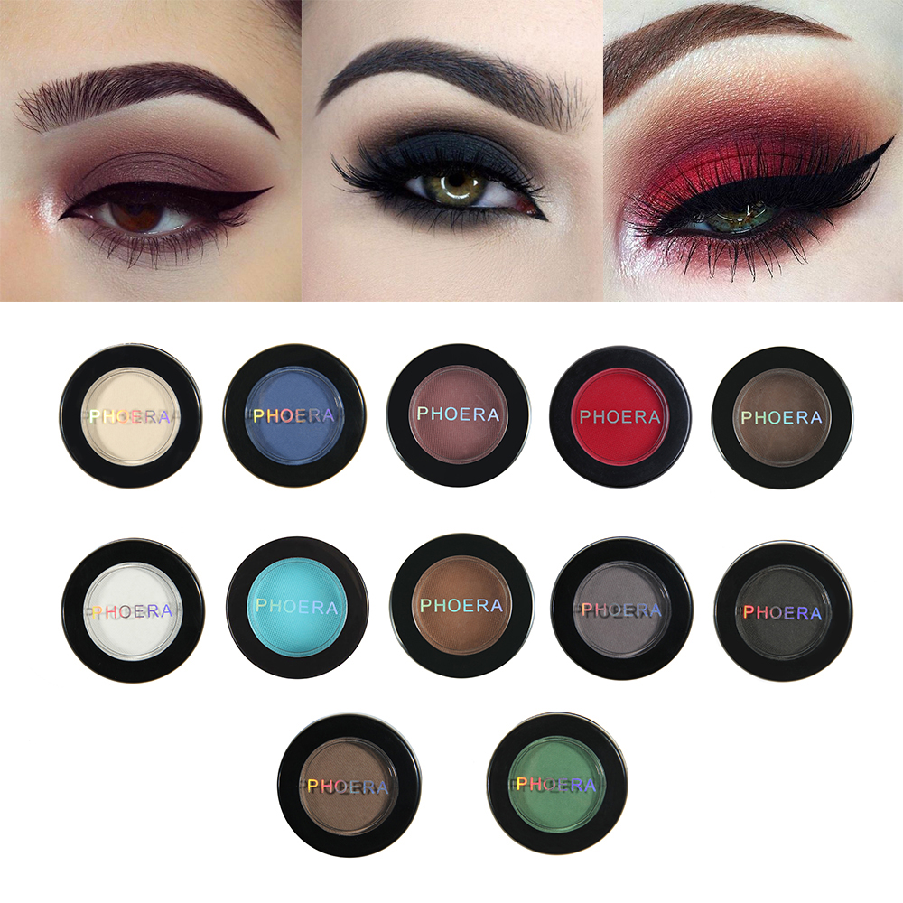 PHOERA Natural Matte Eye Shadow Waterproof Palette Long-lasting Make Up Cosmetic Kit Maquillaje Profesional 12 Color P TSLM2