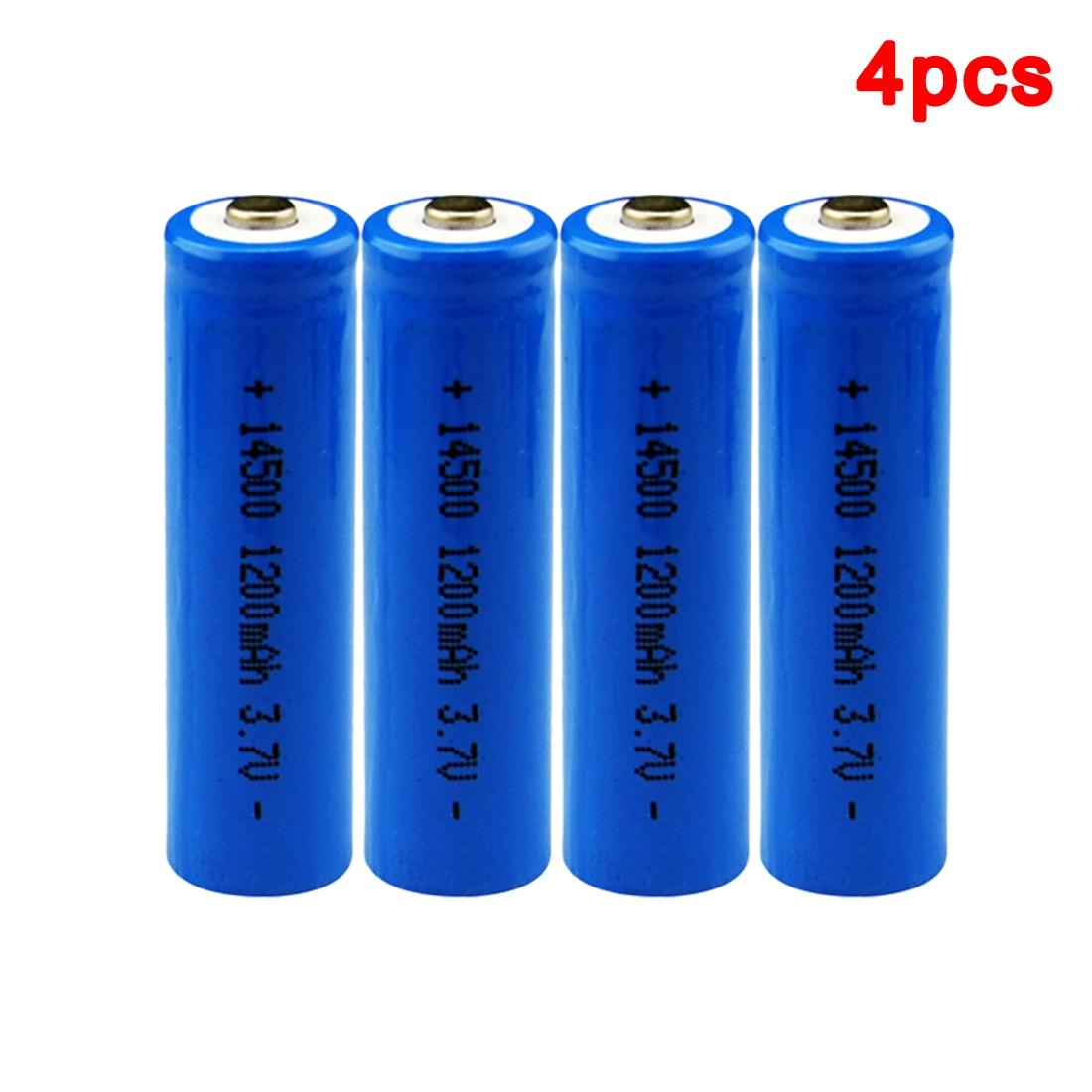 centechia Top Sale 4 pcs High Capacitance 14500 Battery 3.7V 1300mAh Rechargeable Battery for Led Flashlight Batery Battery est
