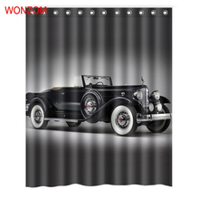 WONZOM Polyester Fabric Car Curtains with 12 Hooks For Bathroom Decor Modern Bath Waterproof Curtain New Accessories