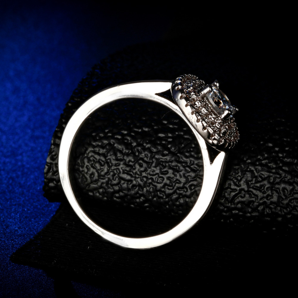 Original Design Gorgeous cz unique style top quality round cut Ring Cubic Zirconia Hot Ins sterling silver 925 in Rings from Jewelry Accessories