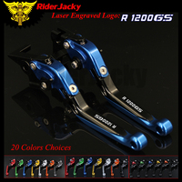 RiderJacky 1 Pair Motorcycle Folding Extendable Brake Clutch Levers For BMW R1200GS R1200 GS 2004 2012