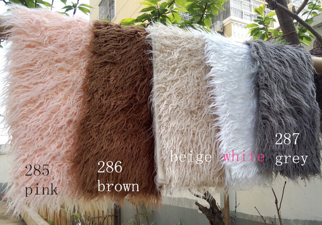 10075cm faux fur blanket basket stuffer mongolia fur photography props newborn photography