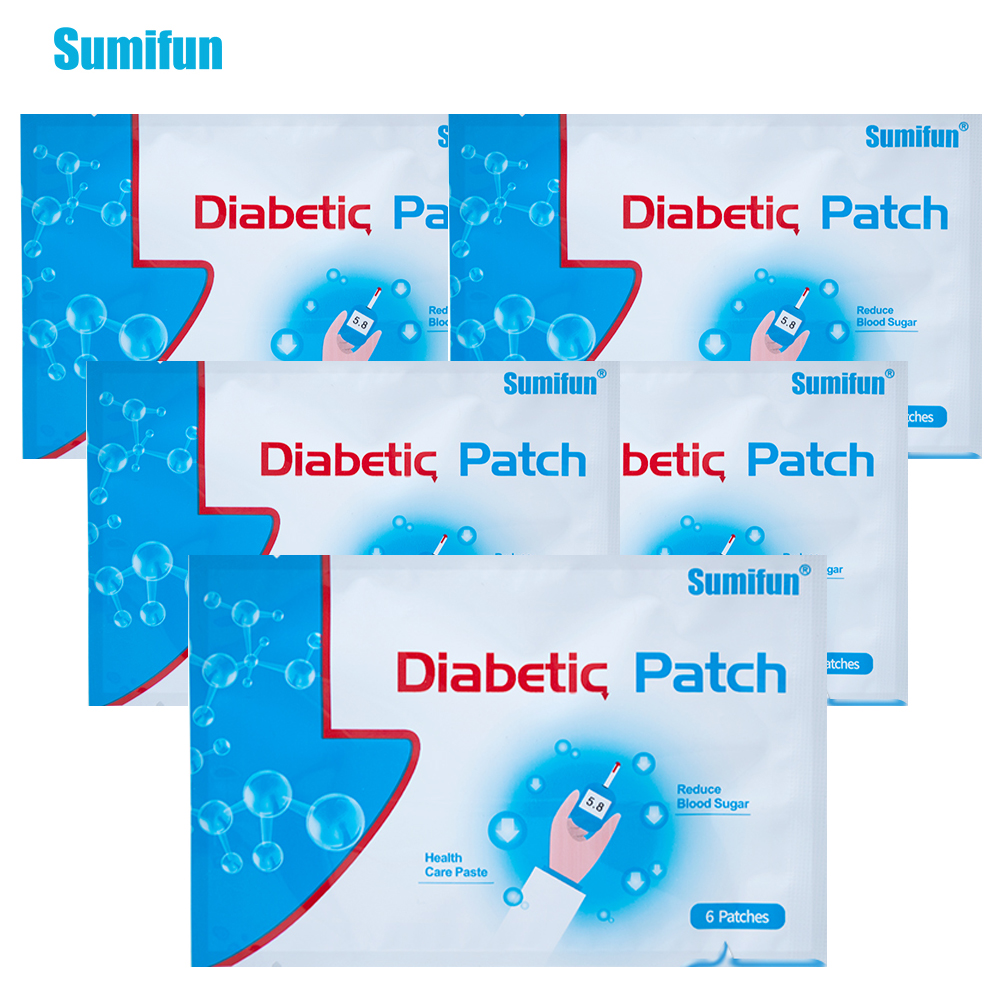 30Pieces=5Bags Diabetic Patch Diabetes Herbal Diabetes Cure Lower Blood Glucose Treatment Sugar Balance Plaster D1270(China)