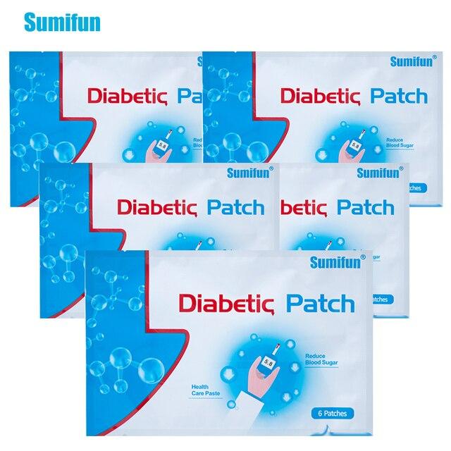 30Pieces=5Bags Diabetic Patch Diabetes Herbal Diabetes Cure Lower Blood Glucose Treatment Sugar Balance Plaster D1270