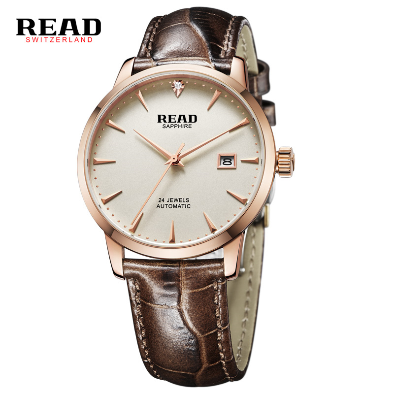 2017 READ Brand New Fashion Men Male Stylish Design Classic Automatic Watch Mechanical Wristwatch Relogio Feminino Montre Femme 2017 read men fashion automatic watch self wind mechanical wristwatch male clock classic stylish design stainless steel watch