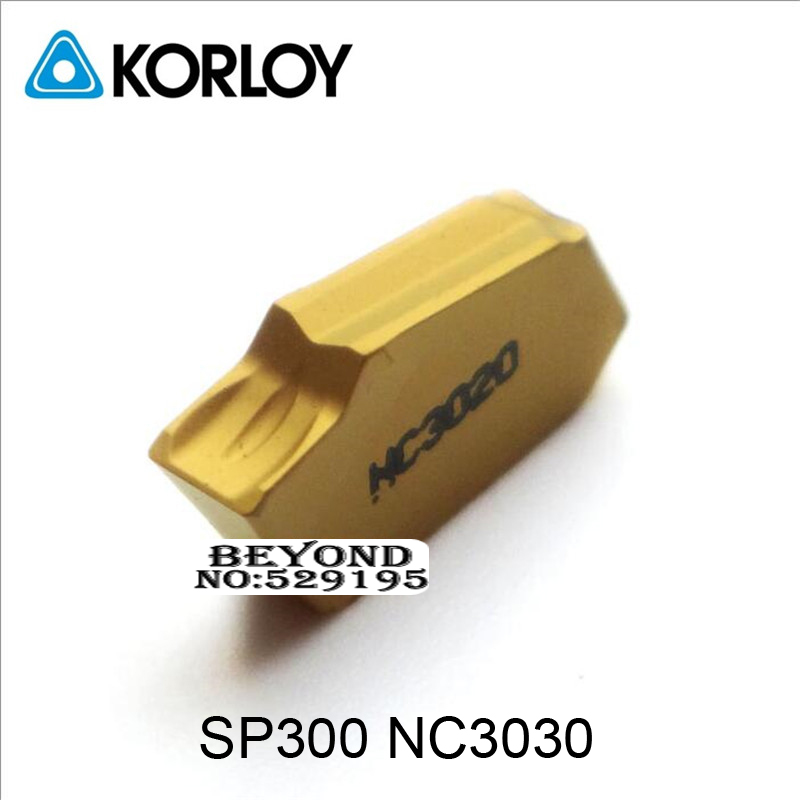 SP300 NC3030 original Carbide Two headed Cutting Korloy Coating Turning Insert For Grooving Holder Zq