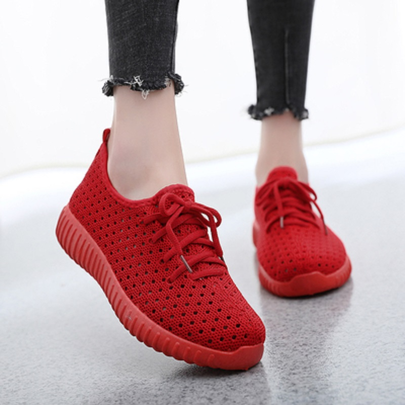 White Shoes One-Pedal Flat-Bottom Female Casual Breathable New Summer Hollow Wild Lightweight