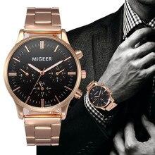 Мужские часы от ведущего бренда, роскошные, серебряные, розовое золото, кристалл, нержавеющая сталь, аналоговые, военные, армейские, кварцевые наручные часы, Relogio Masculino