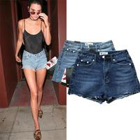 HLMFS Summer Spring Autumn 2018 Women Euro Style Sexy Denim Shorts Stretch Casual Basic Jeans Shorts
