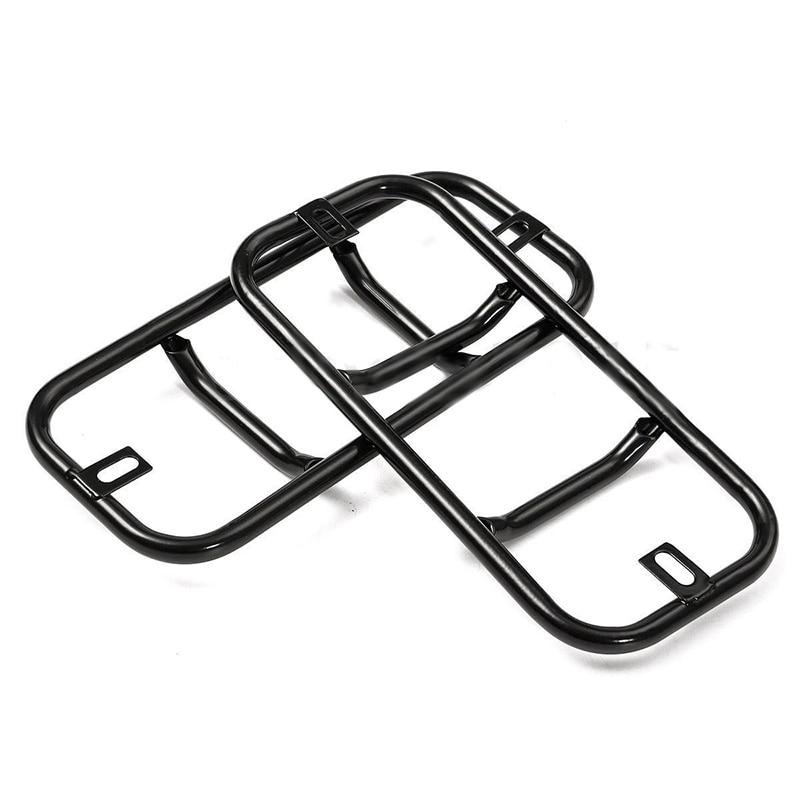 2pcs Black Metal Car Rear Bumper Fog Light Frame Trim Cover For