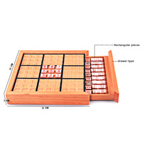 Wooden Sudoku Puzzle Adults Student Logic Development Board Game Children Logical Thinking Sudoku Puzzles