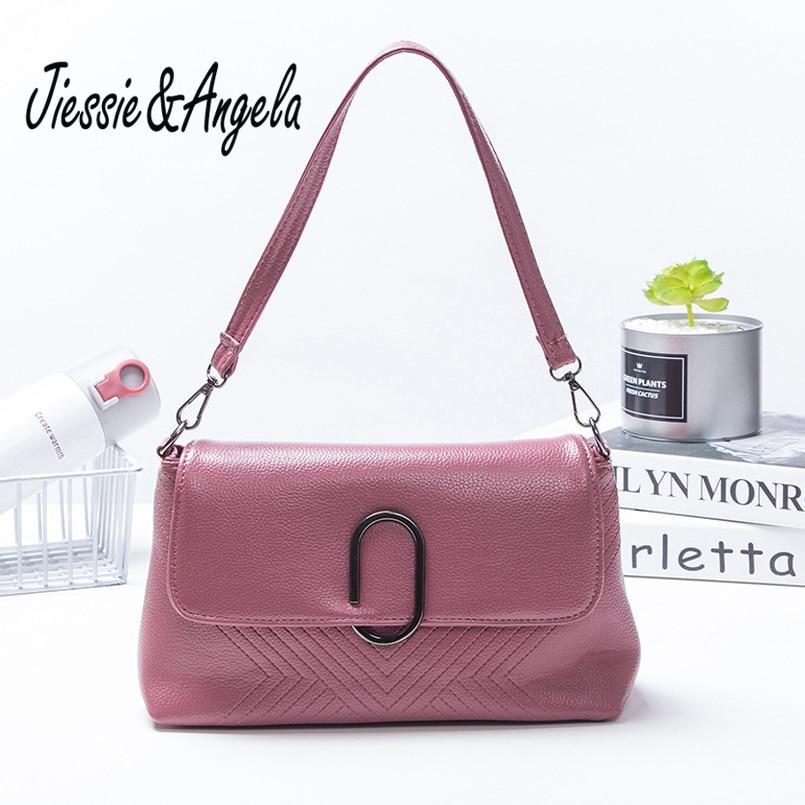 Jiessie & Angela Hot Sale Shoulder Bags Flap Hand for Women Crossbody Bags 2017 Fashion Ladies Messenger Bags PU Leather Handbag