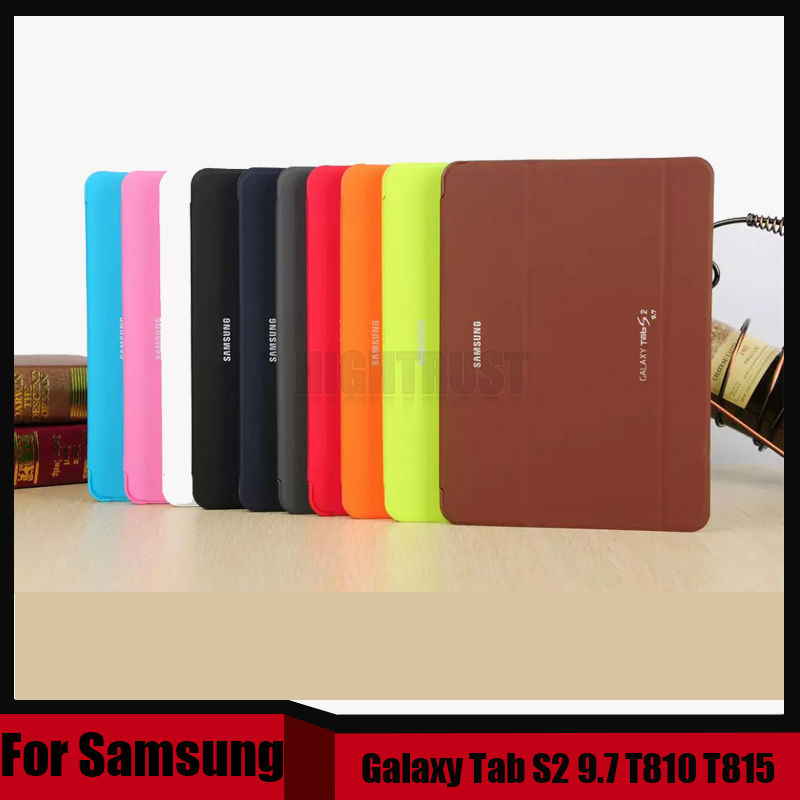 3 in 1 High Quality Business Smart Pu Leather Book Cover Case for Samsung Galaxy Tab S2 9.7 T810 T815 + Stylus + Screen Film