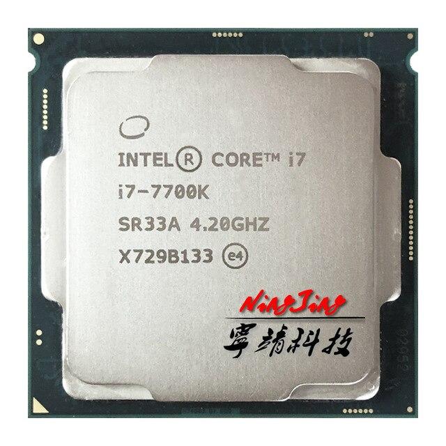 Intel Core i7 7700K i7 7700 K 4.2 GHz Quad Core שמונה חוט מעבד מעבד 8 M 91 W LGA 1151
