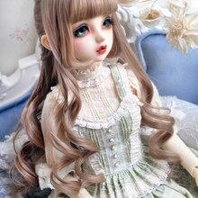 1/3 1/4 BJD кукла молочный чай коричневый темно-коричневый высокотемпературный провод волос парики Великолепная принцесса скомпилированные вьющиеся волосы