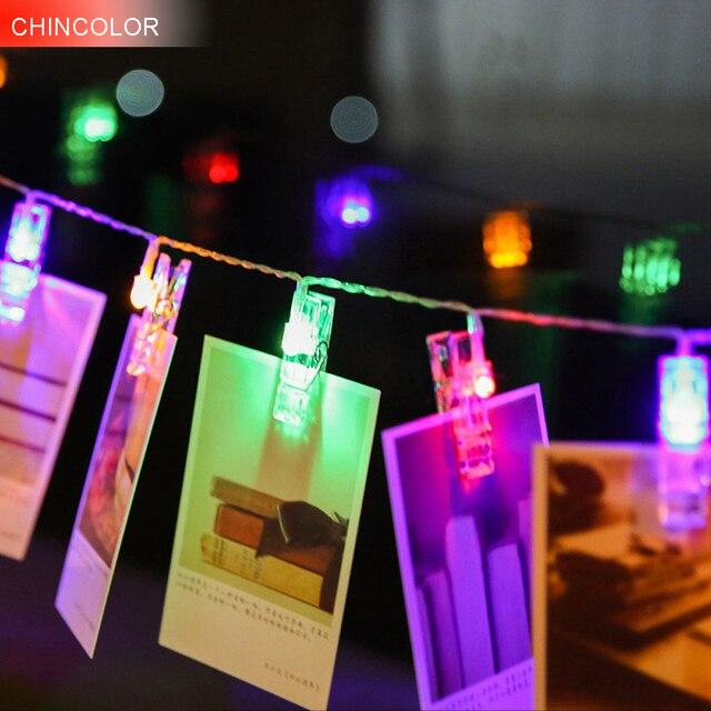12m 10leds Holiday Lights Photo Frame Led Light String Multicolor