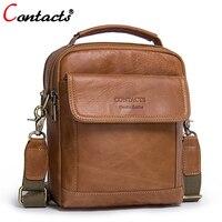 CONTACT S Men Bag Genuine Leather Men Shoulder Bags Handbag High Quality Messenger Bag Business Briefcase