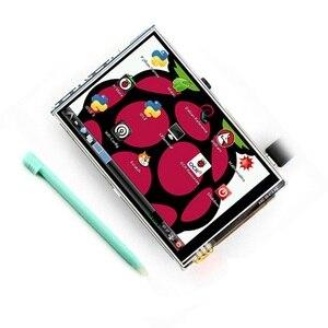 Image 1 - 3.5 pouce 480*320 écran tactile framboise Pi B/B + V3.0 Module daffichage à cristaux liquides de résistance de bouclier TFT avec le contrôleur du stylo tactile XPT2046