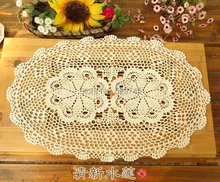 Handmade Crochet flowers Oval Tablecloths Cotton Doilies Decorative Cover cloth Sofa mats / Lamp pad / mat vase ( 1PCS/LOT)
