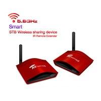 New 5.8GHz 300M Wireless STB AV Sender TV Audio Video Transmitter & Receiver Set for IPTV DVD With Power Adapter