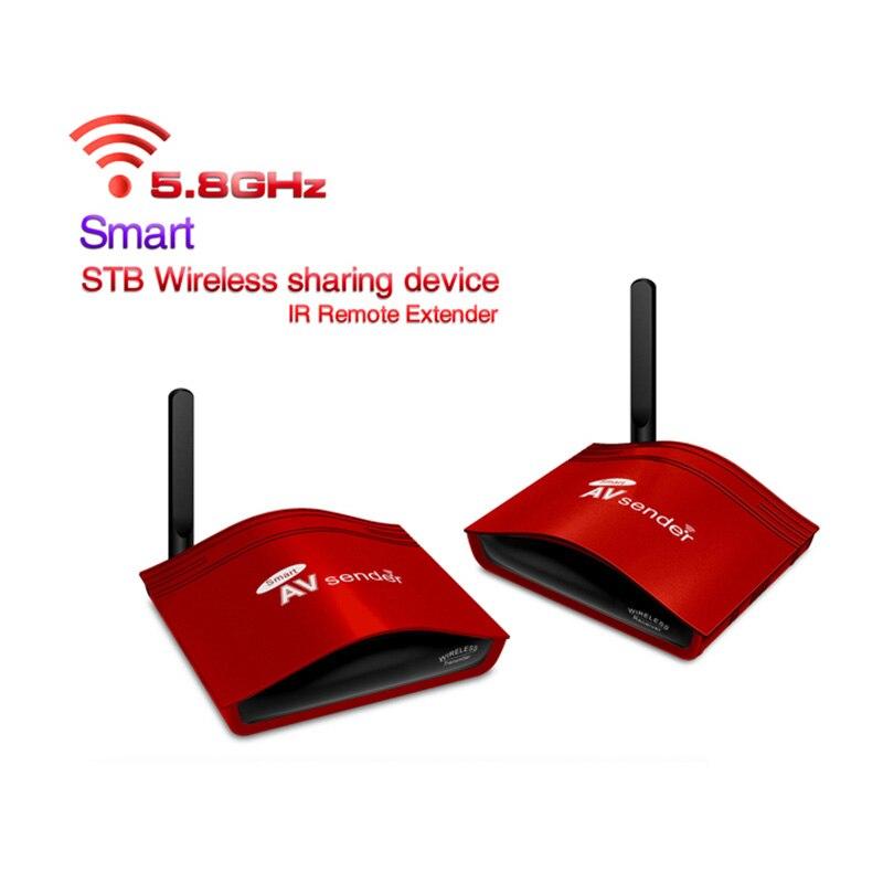 Nouveau 5.8 GHz 300 M sans fil STB AV émetteur TV Audio vidéo émetteur et récepteur ensemble pour IPTV DVD avec adaptateur secteur