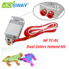 3DSWAY 3D Printer Parts Multi-color Extruder 2 in 1 out Hotend NF TC-01 Dual Color Switching Hotend Kit for 0.4mm 1.75m