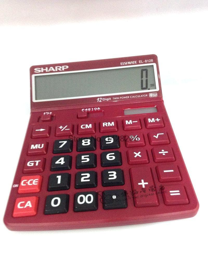sharp calculator. sharp el 8128 calculator definition big screen color display large buttons engraved adjustment-in calculators from computer \u0026 office on l