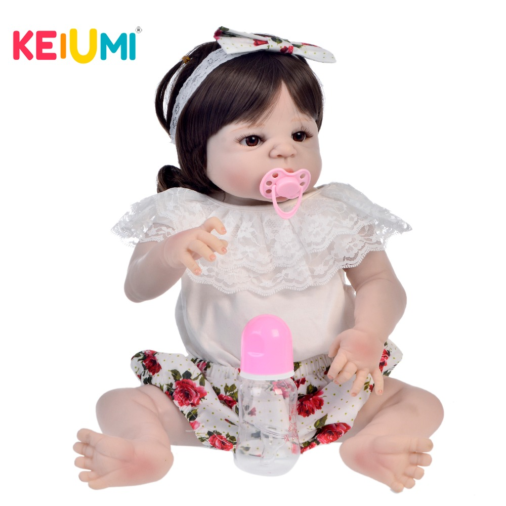 57cm Silicone Full Body Reborn Baby Doll Toys For Girl Lifelike Newborn Princess Babies Bathe Accompanying Toy Kid Birthday Gift57cm Silicone Full Body Reborn Baby Doll Toys For Girl Lifelike Newborn Princess Babies Bathe Accompanying Toy Kid Birthday Gift