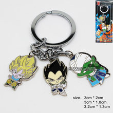 Fashion Jewelry Pendant DRAGON BALL Son Goku Piccolo figure pendant metal keychain Key Ring for Mens women kids Good present(China)