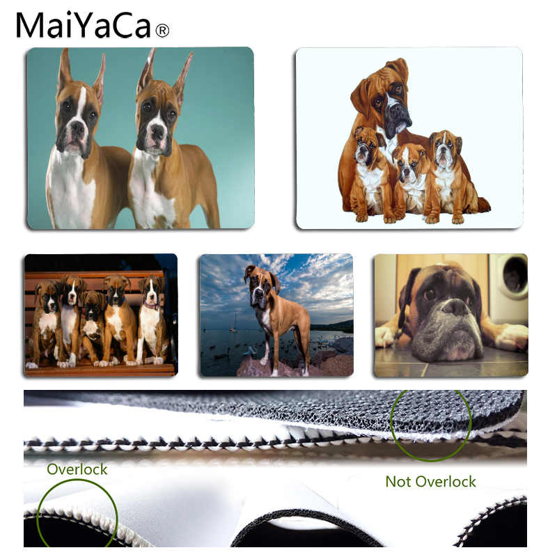 f911054bc261 MaiYaCa Boxer dog Customized MousePads Computer Laptop Anime Mouse Mat Size  for 18x22cm 25x29cm Rubber Rectangle Mousemats