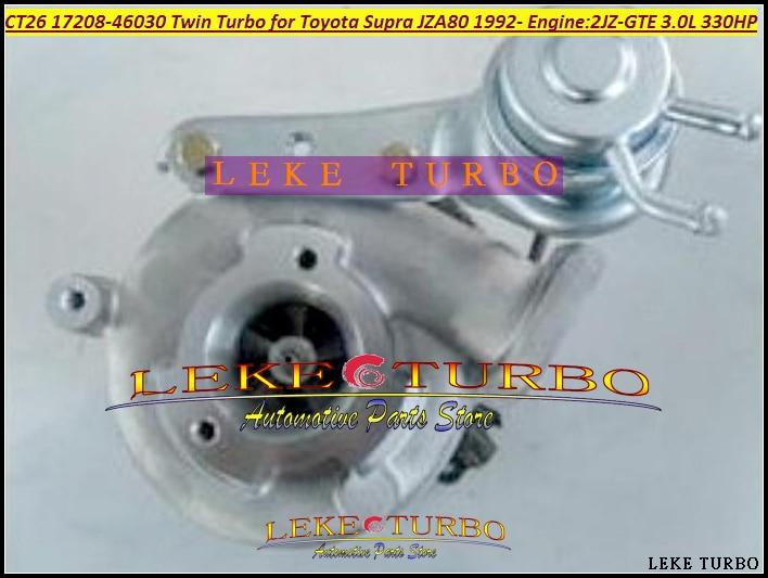 Бесплатная доставка один кусок Twin Turbo CT12B 17208-46030 17208 46030