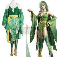 Final Fantasy rydia Косплэй костюм
