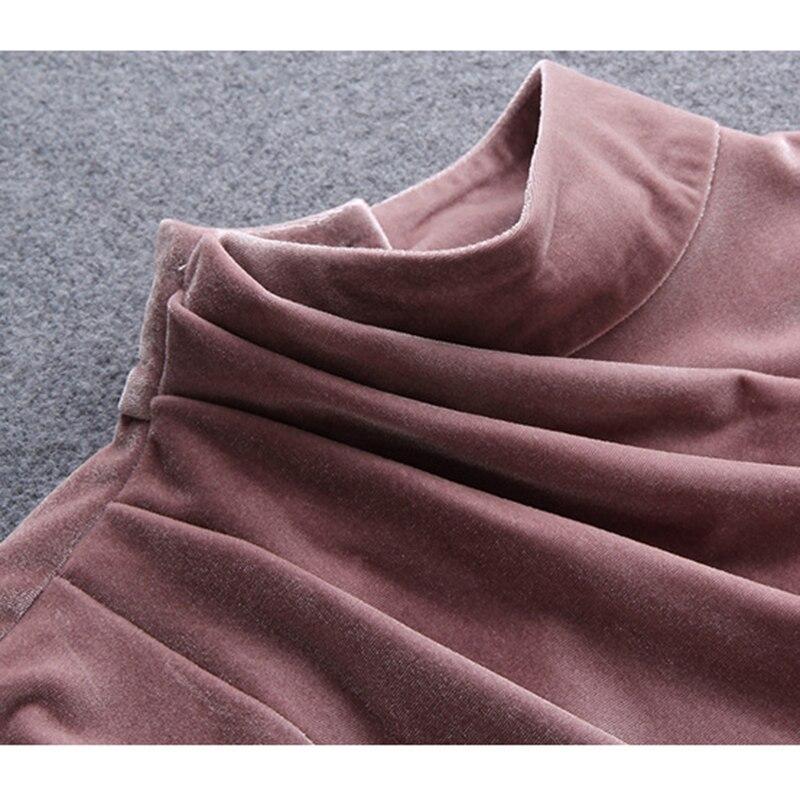 Femmes Mode Occasionnel Nouvelle noir Col Lâche pourpre Professionnel beige Or pièce Costume Large Velours Vert Bureau Grande Pantalon Haut Deux rose Élégant Jambe Taille dtIzwd