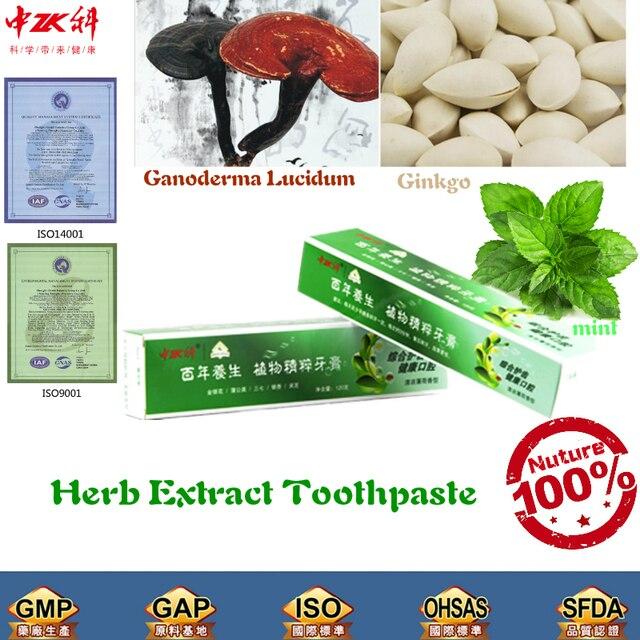 1PCS 100% china herb health care Ganoderma Lucidum Various Herb Plant Toothpaste whitening