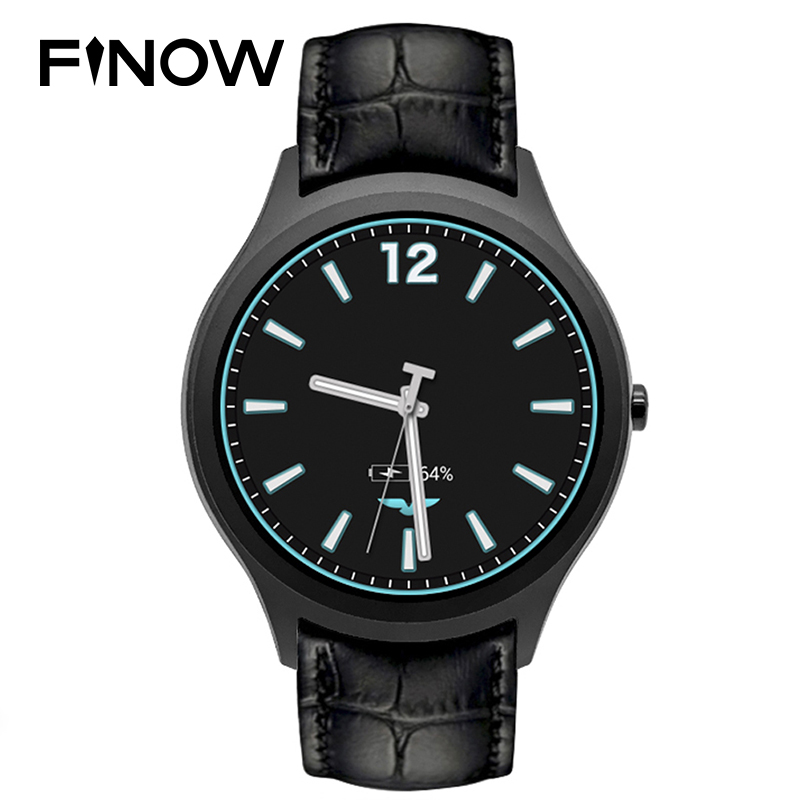 Finow X1 Smart Watch Men Android 4.4 3G WIFI GPS Bluetooth Watch Clock NO.1 D5 Smartwatch PK KW88 KW18 I3 DM368 watch black android 5 1 smartwatch x11 smart watch mtk6580 with pedometer camera 5 0m 3g wifi gps wifi positioning sos card movement watch