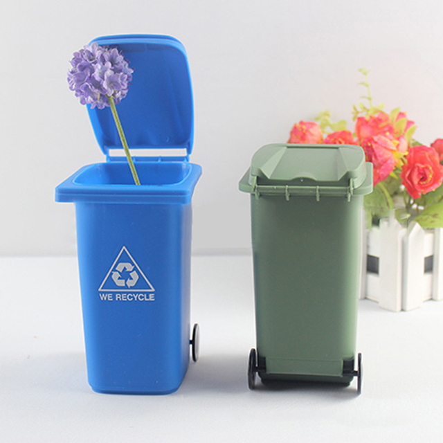 Whole Waste Bins Icarekit Mini Curbside Desk Trash Recycle Can Garbage Office Set