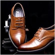 2016 Man Flat Designer Classic Men Dress Shoes Genuine Leather Black Brown Coffe Wingtip Carved Italian Formal Oxfords Size38-44