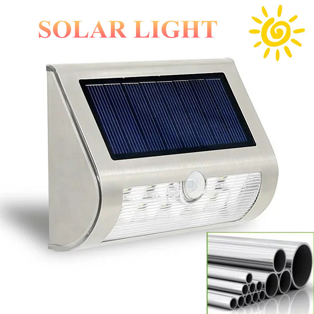 NEWST 10 LEDS Solar Light Solar Power Outdoor Fence lights Wireless Waterproof Steel with PIR Motion Sensor Garden Night Lights