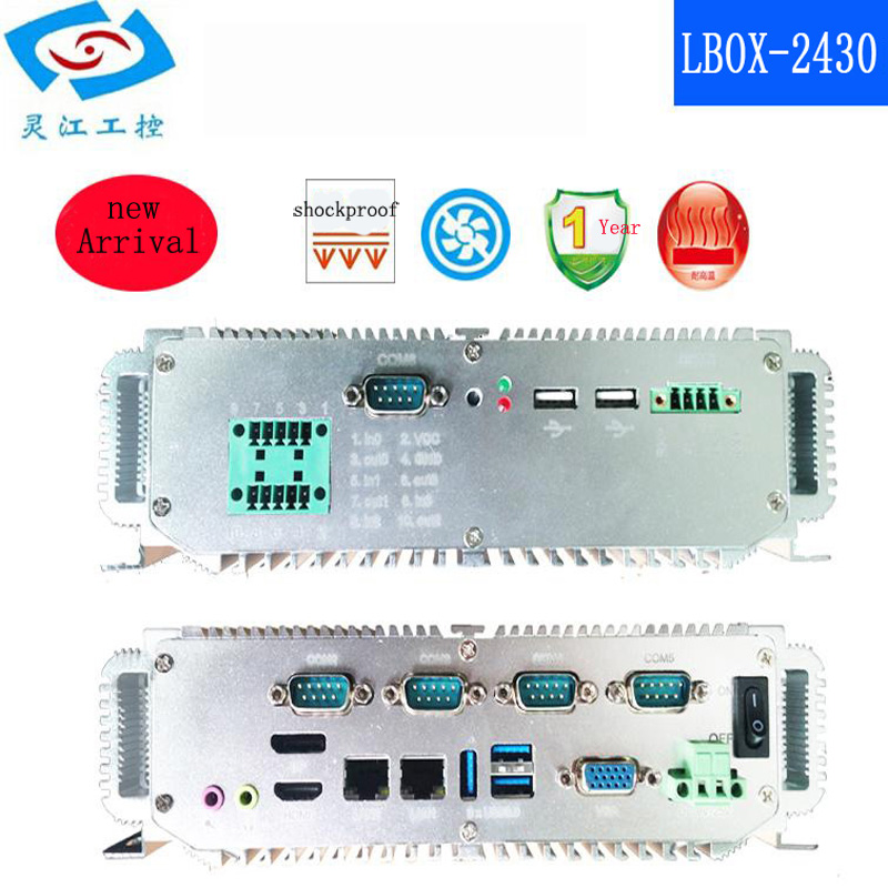 cheap price <font><b>Intel</b></font> <font><b>Core</b></font> <font><b>i5</b></font>-<font><b>2430M</b></font> IPC Industrial embedded mini pc Support DP+HDMI and VGA display image