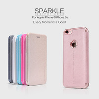 Original NILLKIN Sparkle Flip Leather With Smart View Window Back Cover Phone Case For IPhone 6