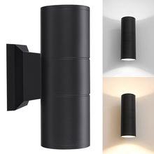 6 Вт с крышкой вверх/вниз с двумя головками COB светодиодный настенный светильник бра светильник в помещении/на открытом воздухе Водонепроницаемый IP65 двойной Настенный Светильник Уличный настенный светильник