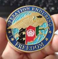 NUOVO * Afghanistan-Operazione Enduring Freedom Sfida Coin, placcato Oro regali, 40*3mm, il trasporto libero, 30 pz/lotto