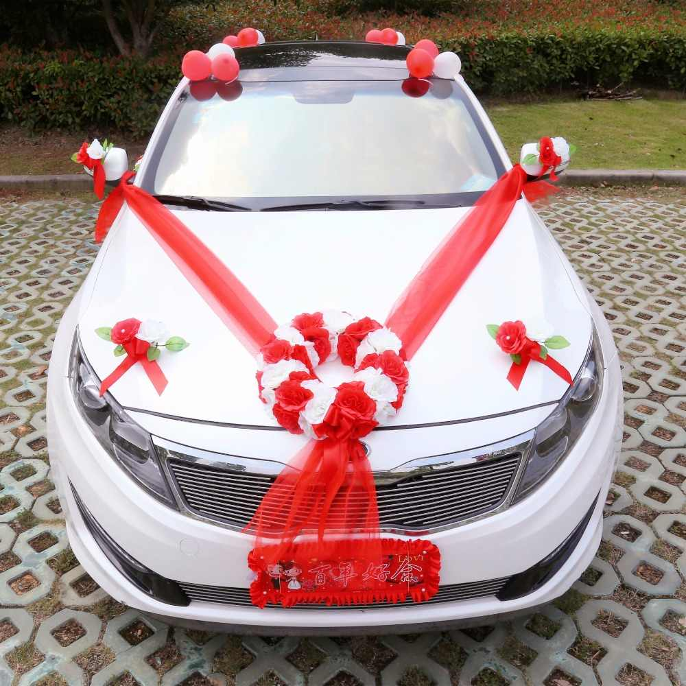 Car Decoration Weding Diy Artificial Flowers Wedding Car Decoration Flower Valentine S Day Fake Flowers Sets Wedding Wreath Party Decoration Flower